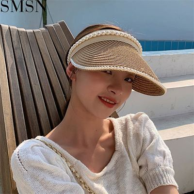 MISS Best Design 2021 Summer Faux-Pearl Beach Women Sun Hat Designer Hats