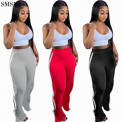 Woman Pants 2021 Autumn Design Solid Color Slacks Track Pants Streetwear Jogging Long Casual Pants For Women