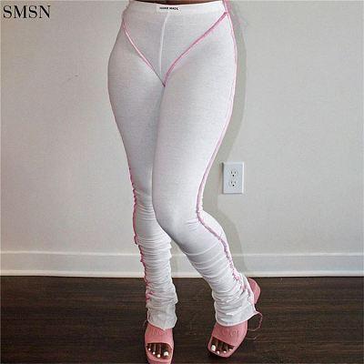 FASHIONWINNIE Wholesale Solid Color Woman Sport Ladies Pants Leggings Yoga Pants Gym Leggings Stacked Pants For Women 2021