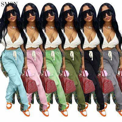 FASHIONWINNIE Autumn Fall Women Clothing Solid Color High Waist Sports Streetwear Pants Jogger Sweat Tassel Pants Women