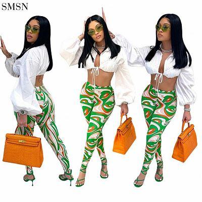 FASHIONWINNIE Sexy Tight Print Pants Club Wear Custom Sport Casual Sweat Ladies Pants Women For Women 2021