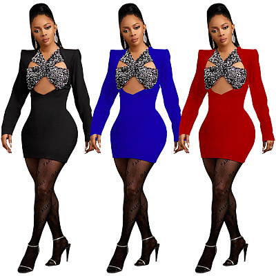 MISSMOEN Good Quality Long Sleeve Hollow Out Women Fashion Clothing Summer Casual Dress Mini Elegant
