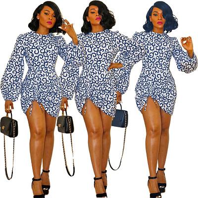 New Design Sexy Print Summer Casual Woman Mini Dress Elegant For Women 2021