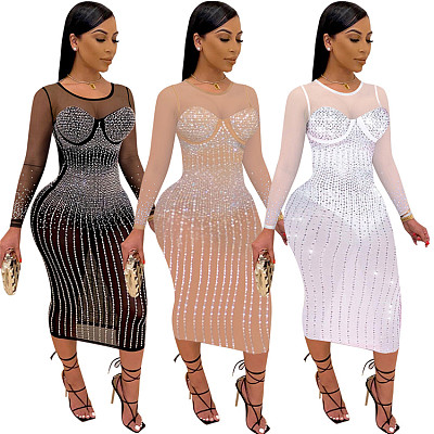 New Design Backless Long Sleeve 2021 Stylish Sexy Woman Dress For Ladies Elegant