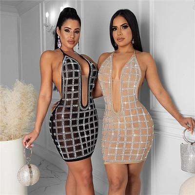 Sleeveless robe femme Sexy Slim Women Fashion Clothing Bodycon Casual Dresses 2021 Summer Dress