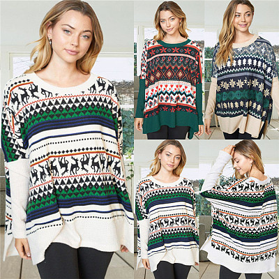 Hot Sale 2021 Autumn Casual Women Blouses Ladies Long Sleeve Knit Sweater Womens Clothes Woman Tops Fashionable