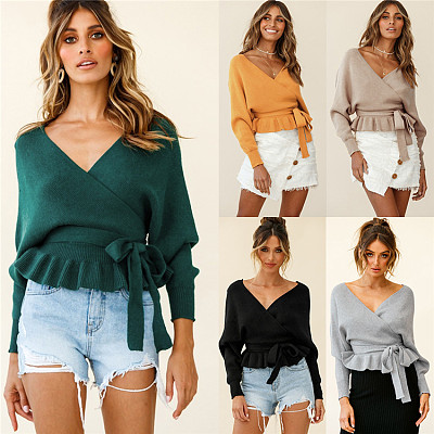 Hot Sale 2021 Casual V Neck Long Sleeve Womens Clothes Woman Tops Fashionable Women Blouses Ladies