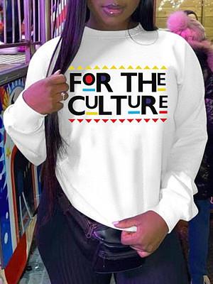 Wholesale New 2021 Women Round Neck Long Sleeve Letter Print Pullover Hoodies Sweatshirts