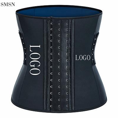 Women Body Shaper Two Belts Support Back Neoprene Weight Loss Belly Sauna Sweat Corset Belt Waist Trainer