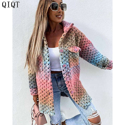 Latest Design Solid Color Womens Fall Clothing Winter Clothes Woman Coat Jacket Winter Coat Woman