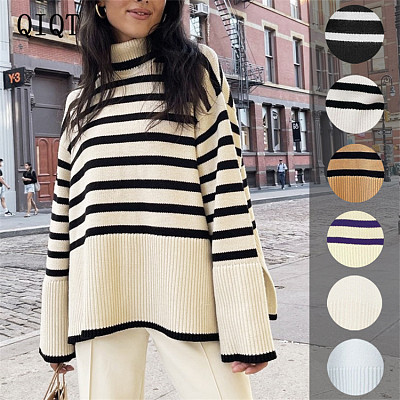 New Arrivals Wholesale Fashion Lady Knitted Puff Sleeve Tops women Pullover Sweater