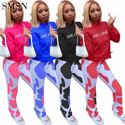 Casual Letter Print Sweatpants And Hoodie Set Joggers Pants Two Piece Pants Set Crop Top 2 Piece Set