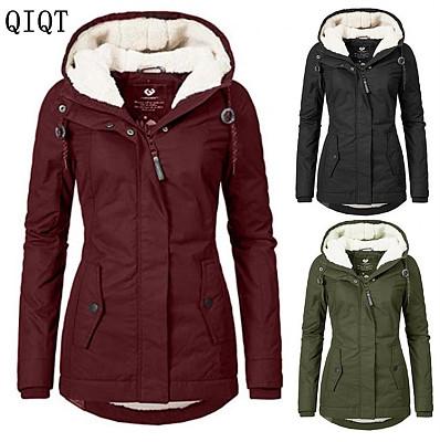 New Fashion Winter Clothes Long Jacket Lady Coat Woman Hooded Coat Parkas Plus Size Womens Coats