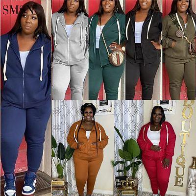 Fall 2021 Women Clothes Sweatsuit Set Tracksuit Sweatpants And Hoodie 2 Piece Set Women