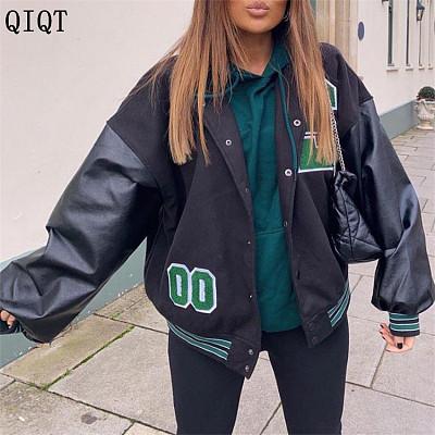 Fashion Women Clothes Baseball Uniform Fall Winter Amazon Hip Hop Jacket Coat Women Jacket