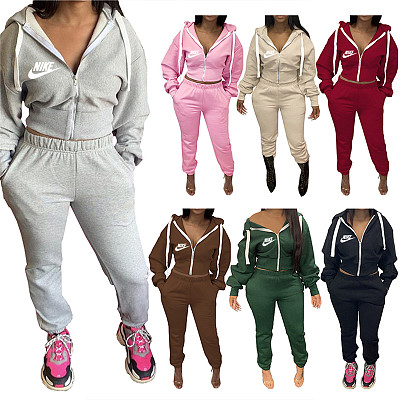 Two Piece Set Outfits Autumn Women's Tracksuit Hoodie And Pants Casual Sport Suit Winter 2 Piece Woman Set