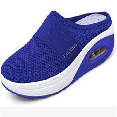 D12828 Fashionable new style splice thick soled slipper 2021 summer women casual breathable shoes