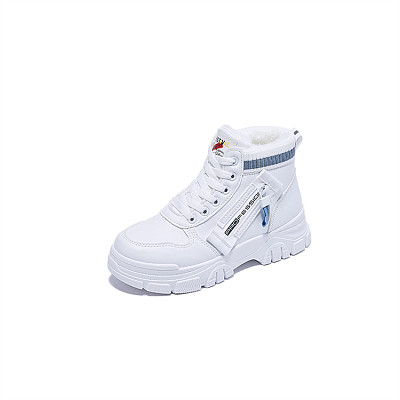 D12941 Korean edition thicken keep warm ventilate thick soled shoe solid color 2021 winter ladies boots