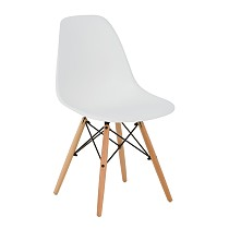 Dsw eames chair plastic white