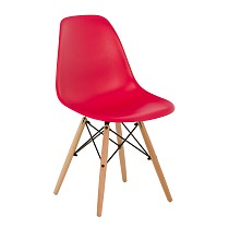 Dsw eames chair plastic red