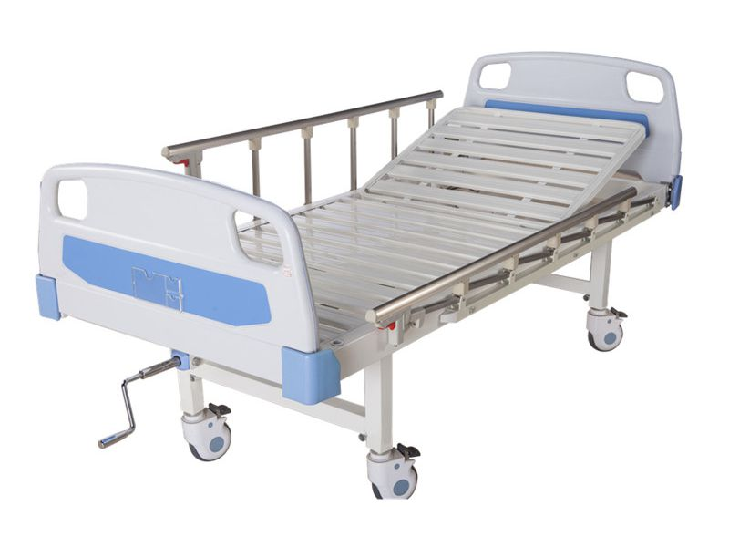 Manual Hospital Bed Single Function With Casters