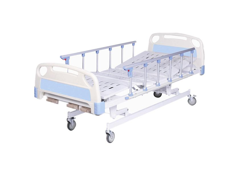 Manual Hospital Bed Three Functions With Casters