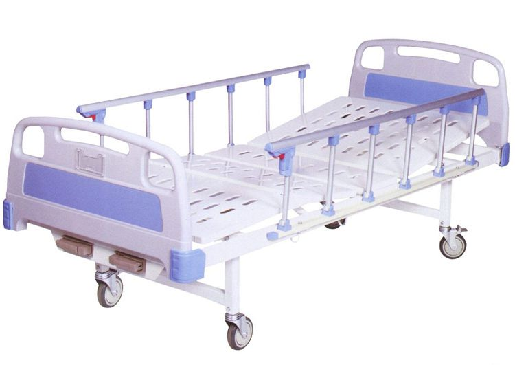 Manual Hospital Bed Two Functions With Casters
