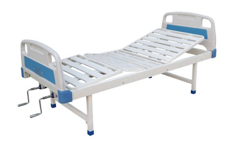 Manual Hospital Bed, Two Functions, No Casters