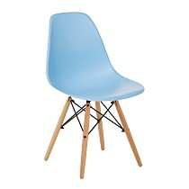 Dsw eames chair plastic blue
