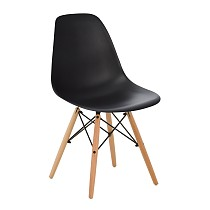 Dsw eames chair plastic black