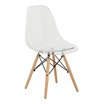 Dsw eames chair plastic clear