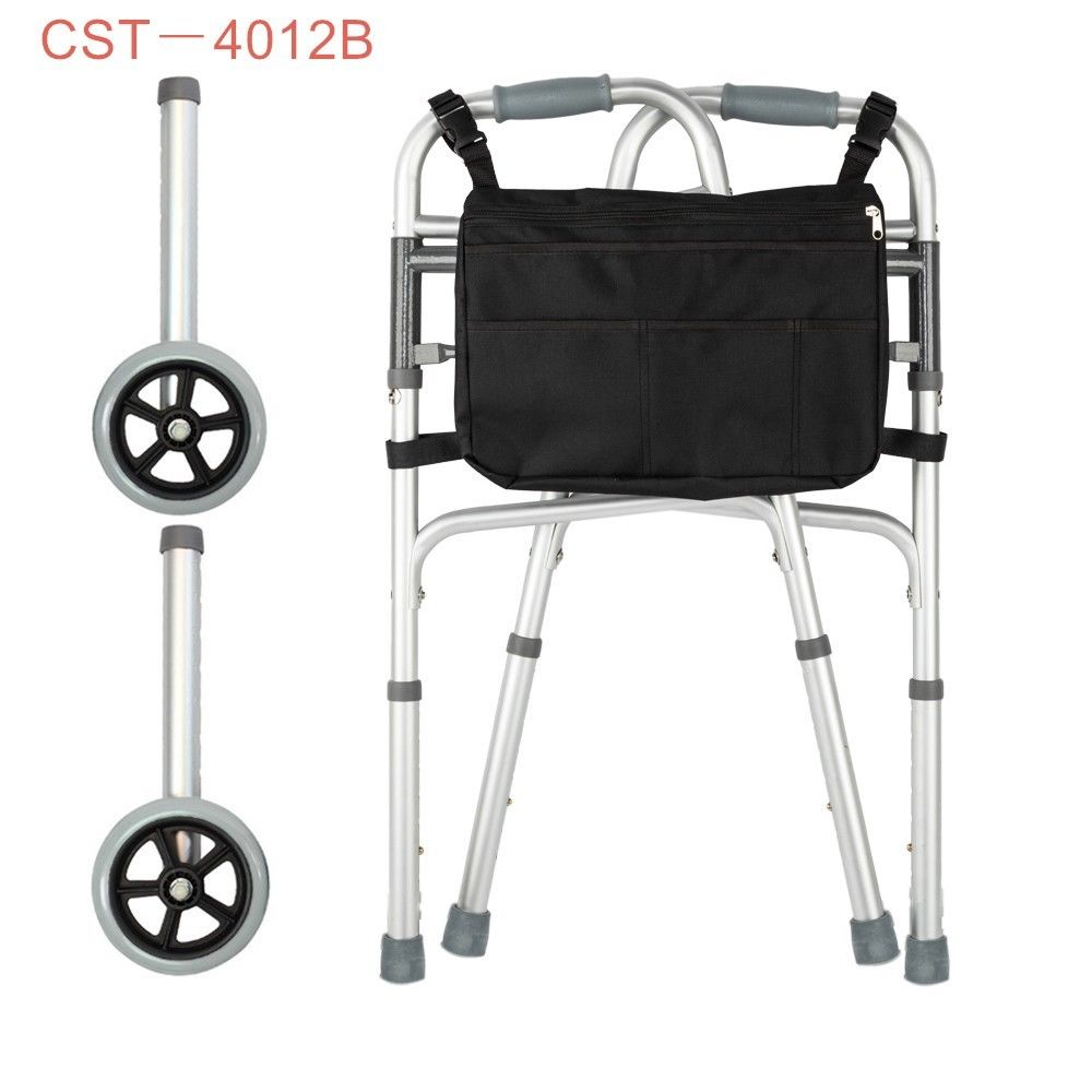 Disabled Elderly Rehabilitation Therapy Supplies Walker Walking Aid Foldable