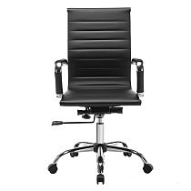 Ergonomic High Back Office PU Leather Chair Swivel Computer Desk Seat Black