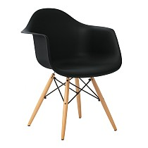 DAW eames chair plastic armchair modern in black