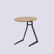 Coffee side table modern design round MDF