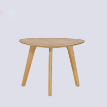 Wooden coffee table round classic design modern MDF