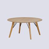 Coffee table round wood scandinavian design