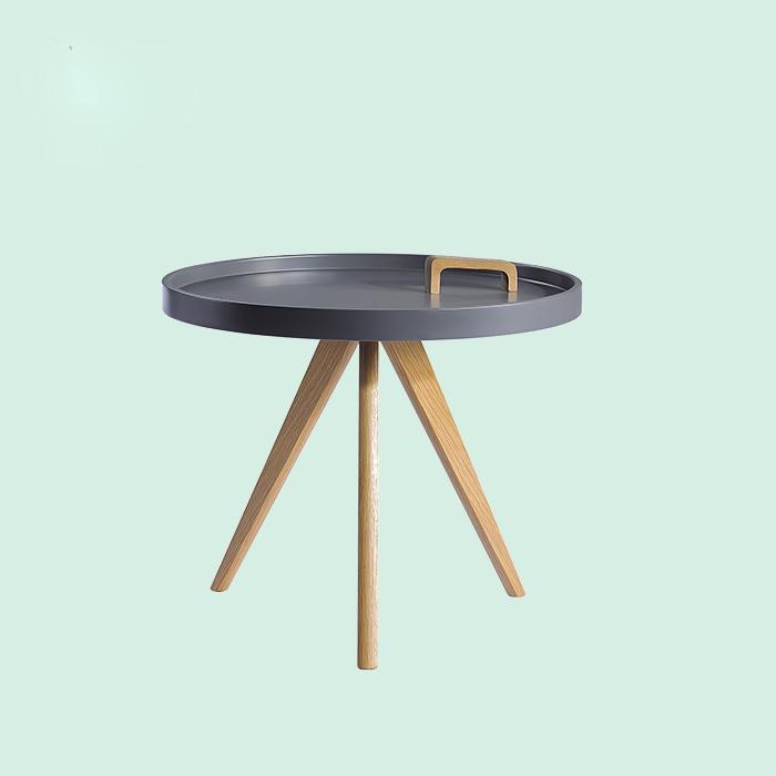 Modern MDF top wood legs coffee table end table