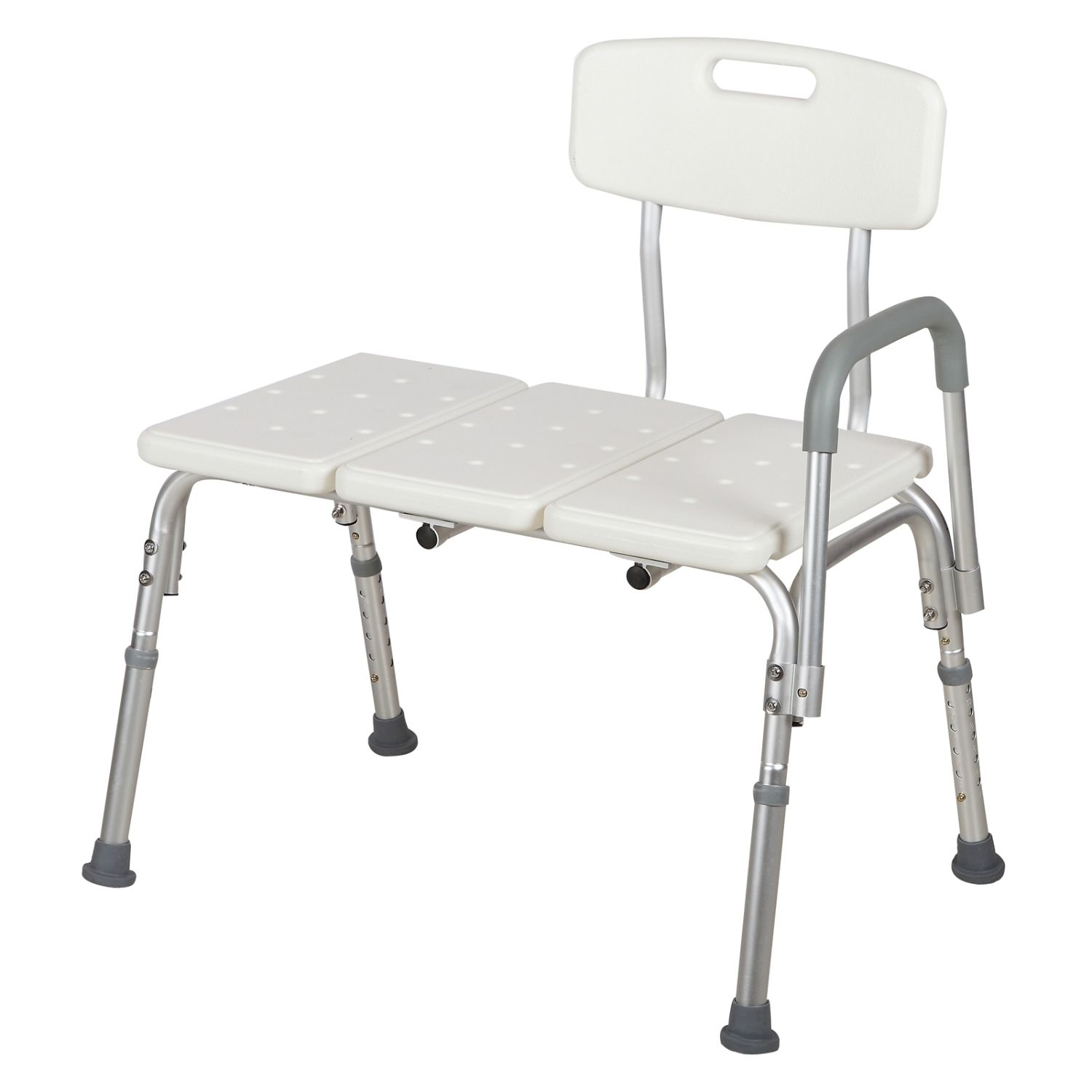 Medical Shower Chair 10 Adjustable Height Bath Tub Bench Stool Seat Back and Arm