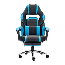 High-back Faux Leather Office Gaming Chair Blue