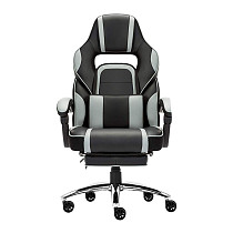 High-back Faux Leather Office Gaming Chair Grey