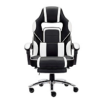 High-back Faux Leather Office Gaming Chair White