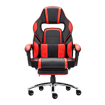 High-back Faux Leather Office Gaming Chair Red