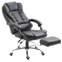 Adjustable Office Chair Swivel Chair with Removable Footrest Black
