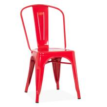Tolix metal dining chair red