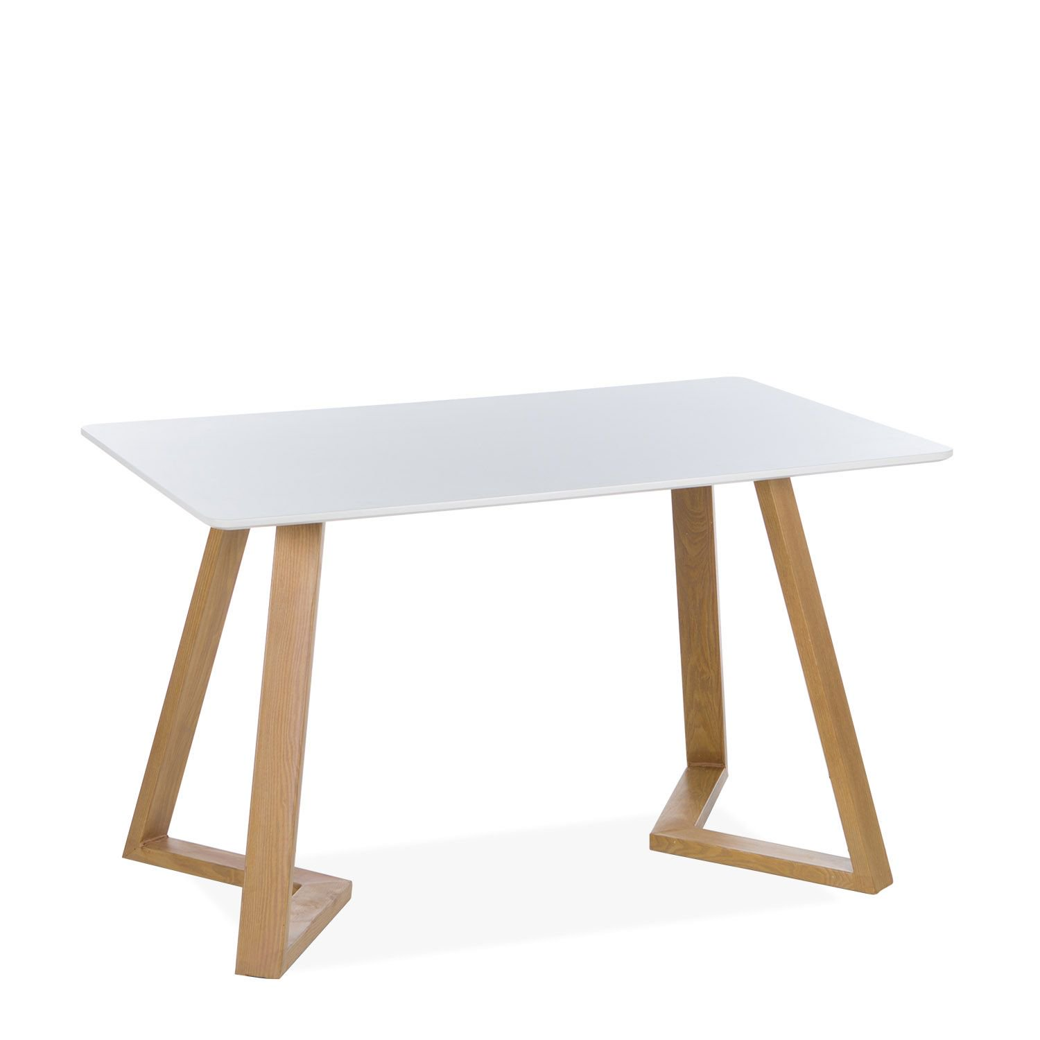 White dining tables wooden MDF top
