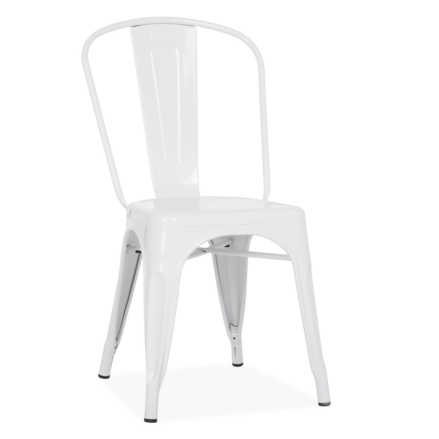 Tolix metal dining chair white