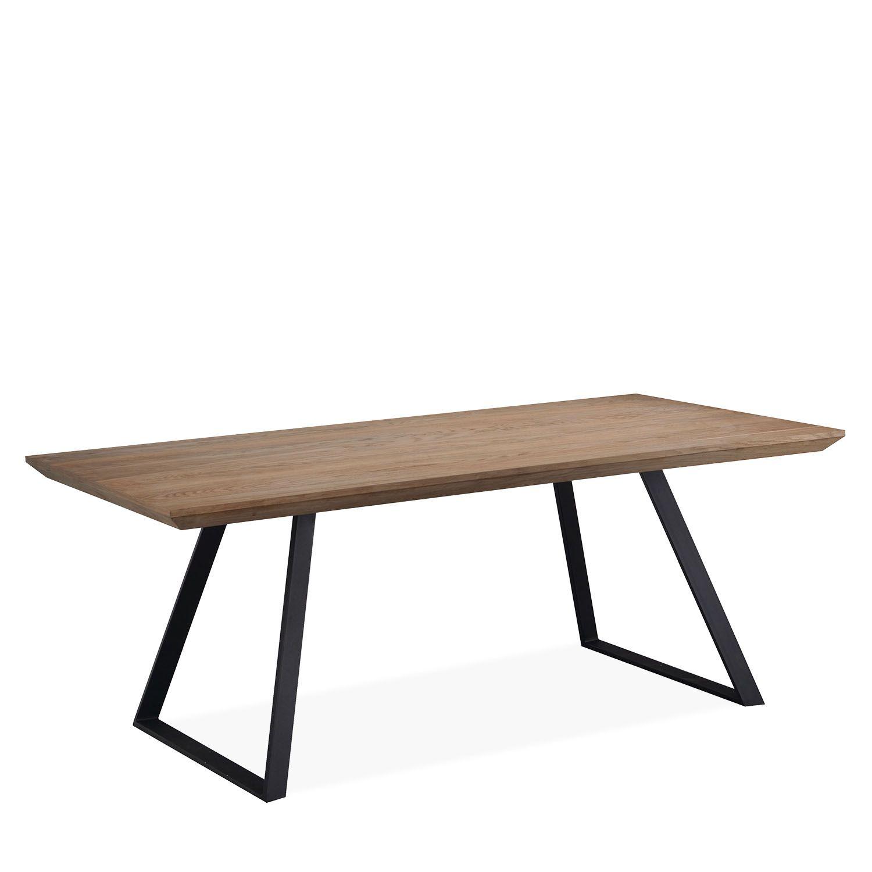dining tables rustic wood top metal legs