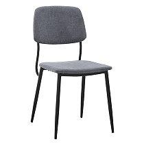 dining chairs fabric grey metal legs