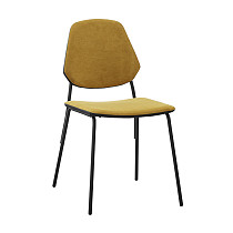 dining chairs fabric armless metal legs